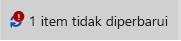 Item pesan tidak diperbarui dan ikon