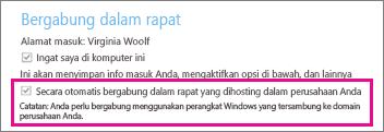 """Opsi umum untuk pengguna yang diautentikasi jika """"Ingat saya di komputer ini"""" dicentang"""
