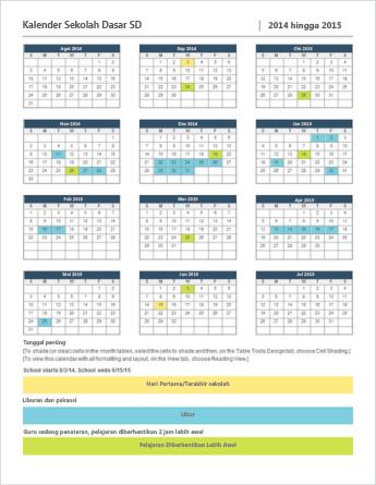Templat kalender