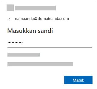 Masukkan kata sandi akun email Anda.