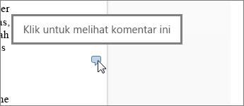 Gambar balon komentar di Word Web App