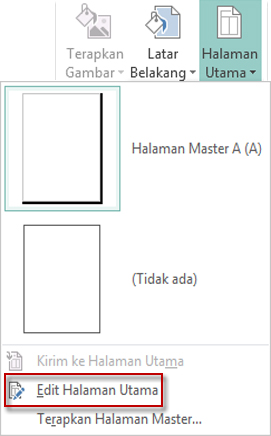 Edit Halaman Master Anda di Publisher 2013.