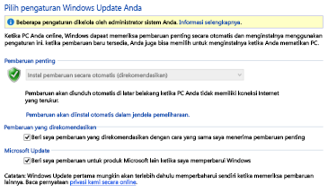 Pengaturan Pembaruan Windows Windows 8 di Panel Kontrol