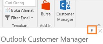 PIN sudut n kanan ikon aplikasi