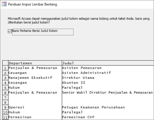Mengimpor data dari Excel