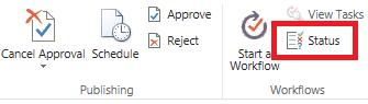 Pita memperlihatkan tombol status persetujuan