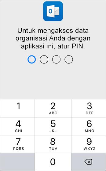Atur PIN untuk mengakses data organisasi Anda
