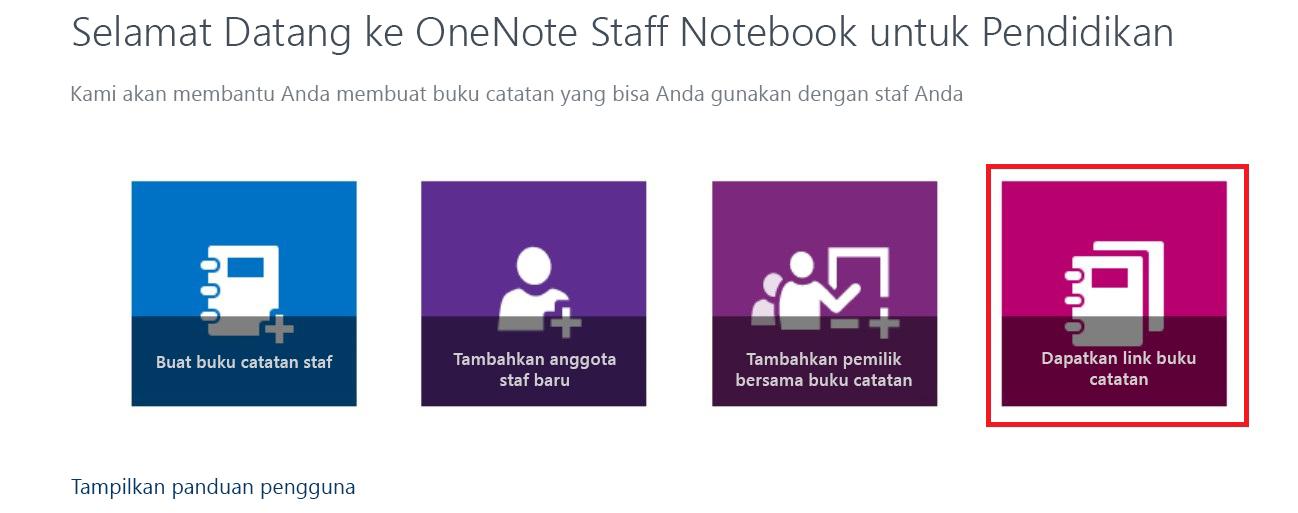 Dapatkan link ke buku catatan Anda.