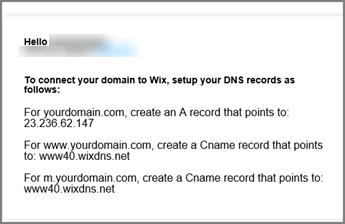 Dalam Wix.com gunakan pengaturan DNS ini