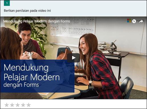 Menyisipkan kotak video YouTube untuk Microsoft Forms