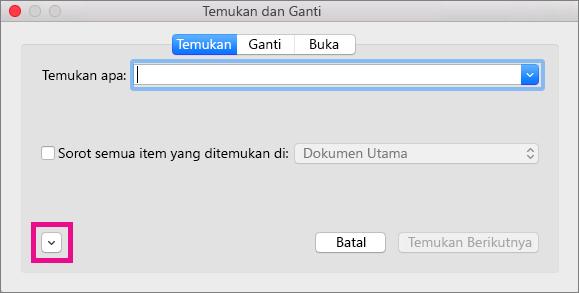Memperlihatkan cara membuka menu popup Format