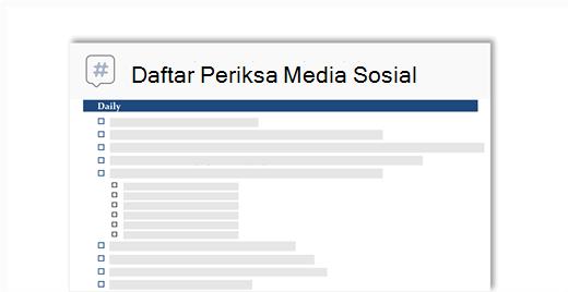 gambar konseptual dari daftar periksa media sosial
