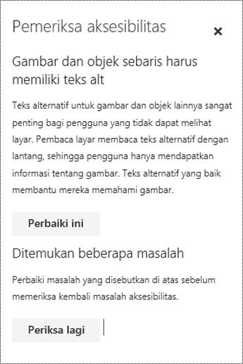 Periksa email untuk masalah aksesibilitas di Outlook di web.