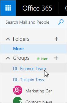 Klik pada daftar distribusi yang Anda inginkan untuk memutakhirkan ke grup