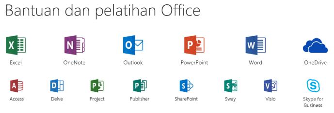 Opsi dukungan untuk Microsoft Office