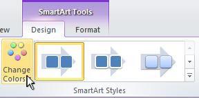 Ubah warna grafik SmartArt Anda.