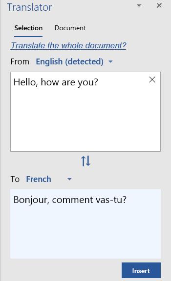 Memperlihatkan Terjemahan Pilihan