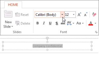 Ubah font footer