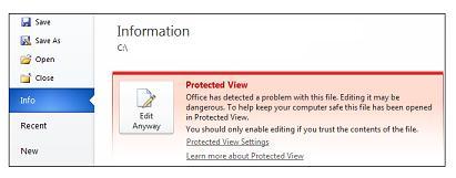 Peringatan Keamanan, Tetap Edit