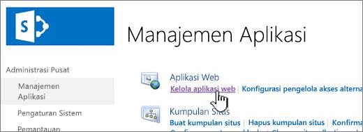 Buka pengaturan aplikasi web