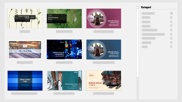 Layar PowerPoint baru memperlihatkan pitch presentasi Templat