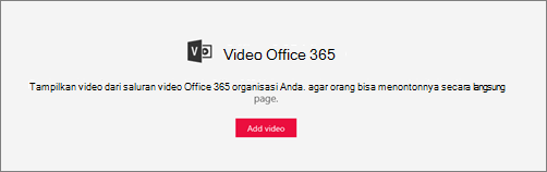 Komponen web Office 365 Video