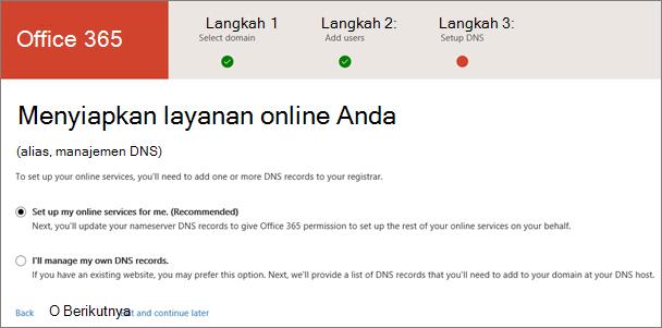 Menyiapkan layanan online
