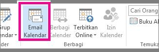 Pada tab Beranda, klik Kalender Email.