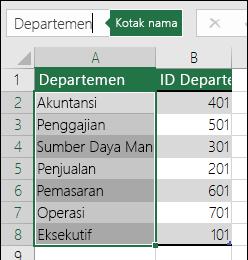 Masukkan nama yang bermakna untuk daftar tersebut dalam kotak nama