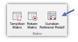 """cuplikan layar menampilkan tombol """"Gunakan Referensi Relatif"""""""