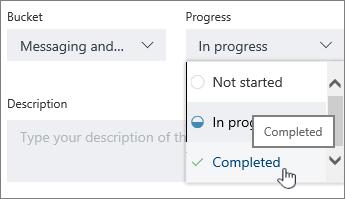Klik tugas, dan pilih status lain di detail