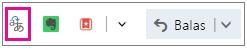 Outlook.com dengan penerjemah Add-In tombol disorot