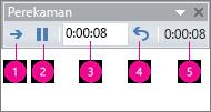 perlihatkan kotak waktu perekaman untuk powerpoint