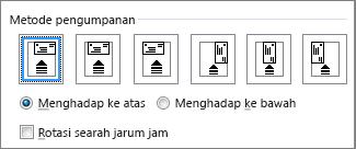 Diagram opsi umpan untuk memasukkan amplop ke dalam printer