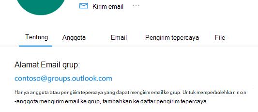 Menambahkan pengirim tepercaya ke grup Outlook.com.