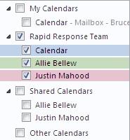 Grup Kalender di Panel Navigasi