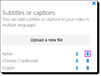 Menghapus Video Office 365 subjudul