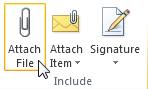 Perintah Lampirkan File pada pita