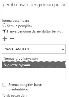 Menambahkan pengirim yang diperbolehkan di pusat admin untuk membantu mengatasi masalah DSN 5.7.136