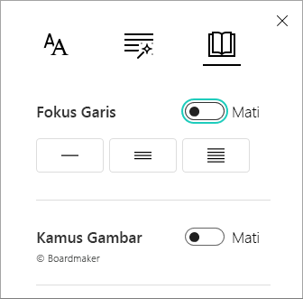 Garis fokus menu alih