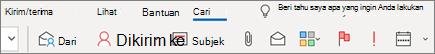 Menggunakan pencarian di Outlook