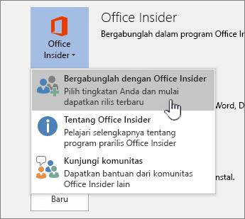 Tombol Gabung dengan Office Insider