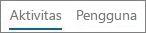 Cuplikan layar tampilan Aktivitas di laporan aktivitas Yammer Office 365