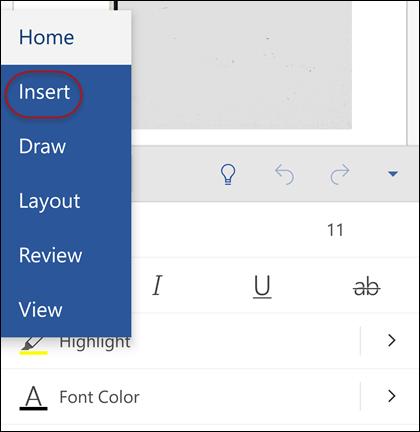 Ketuk Home untuk memperluas galeri Anda bisa memilih tab.