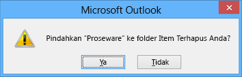 kotak dialog konfirmasi hapus folder