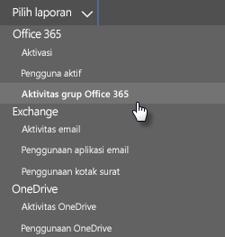 Pilih laporan - grup office 365