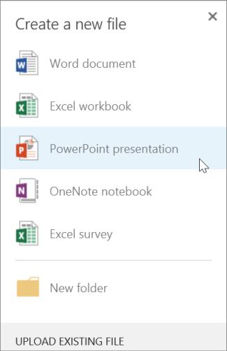 Membuat presentasi PowerPoint baru