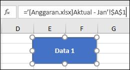 Bentuk yang dipilih untuk memperlihatkan link nama di bilah rumus