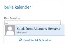Outlook Web App Membuka kotak dialog kalender
