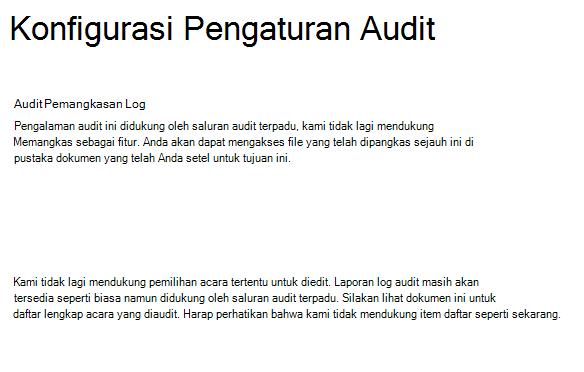 Pengaturan audit SPO